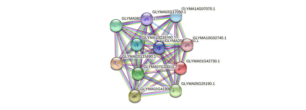 GLYMA01G42730.1 protein (Glycine max) - STRING interaction network