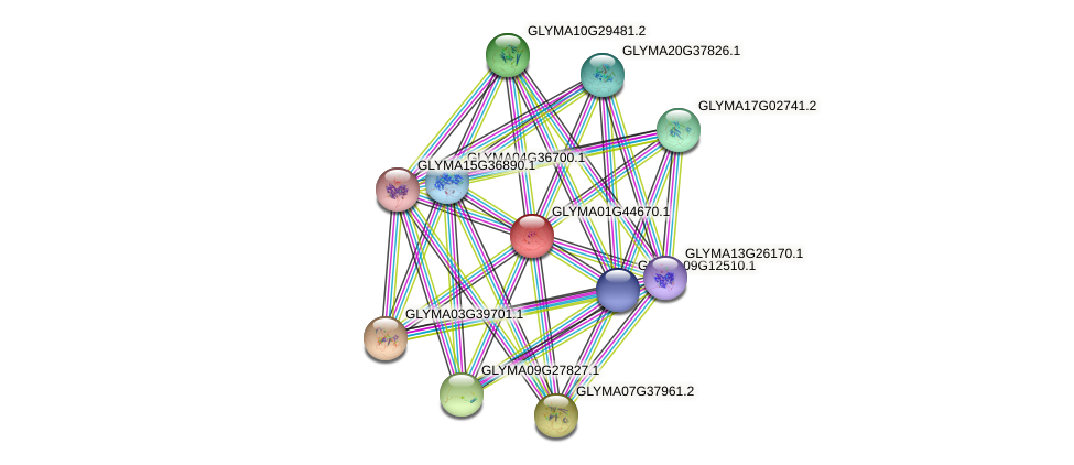 GLYMA01G44670.1 protein (Glycine max) - STRING interaction network