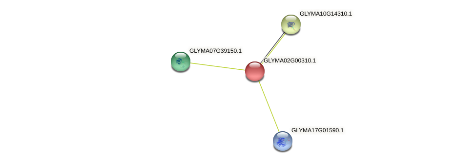 GLYMA02G00310.1 protein (Glycine max) - STRING interaction network