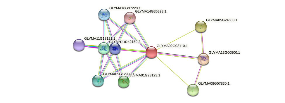 GLYMA02G02110.1 protein (Glycine max) - STRING interaction network