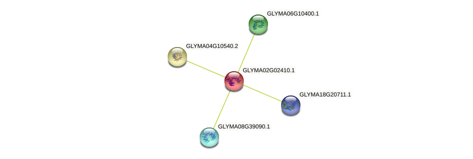 GLYMA02G02410.1 protein (Glycine max) - STRING interaction network