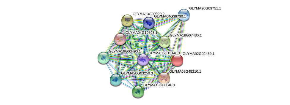 GLYMA02G02450.1 protein (Glycine max) - STRING interaction network