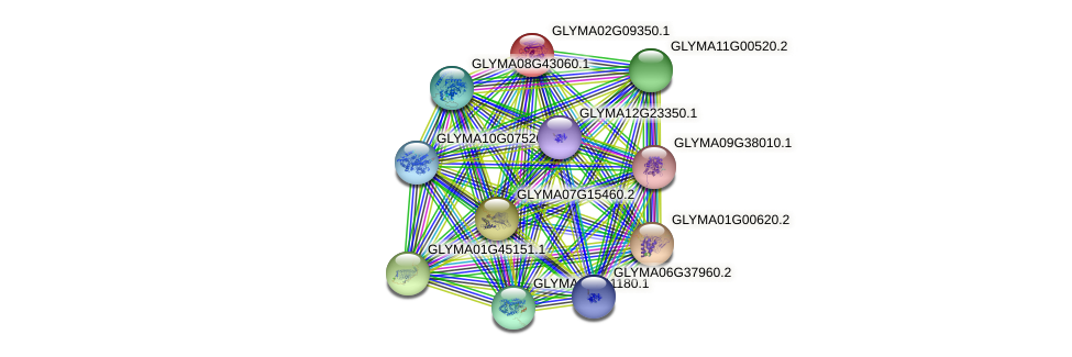 GLYMA02G09350.1 protein (Glycine max) - STRING interaction network