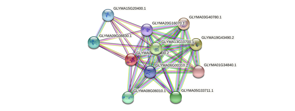 GLYMA02G09400.2 protein (Glycine max) - STRING interaction network