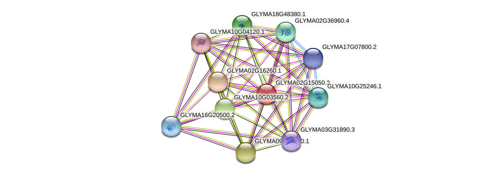 GLYMA02G15050.3 protein (Glycine max) - STRING interaction network