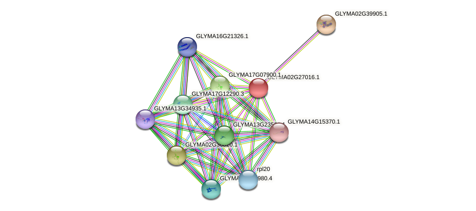 GLYMA02G27016.1 protein (Glycine max) - STRING interaction network