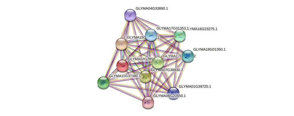 GLYMA02G28530.2 protein (Glycine max) - STRING interaction network
