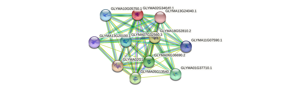 GLYMA02G34640.1 protein (Glycine max) - STRING interaction network