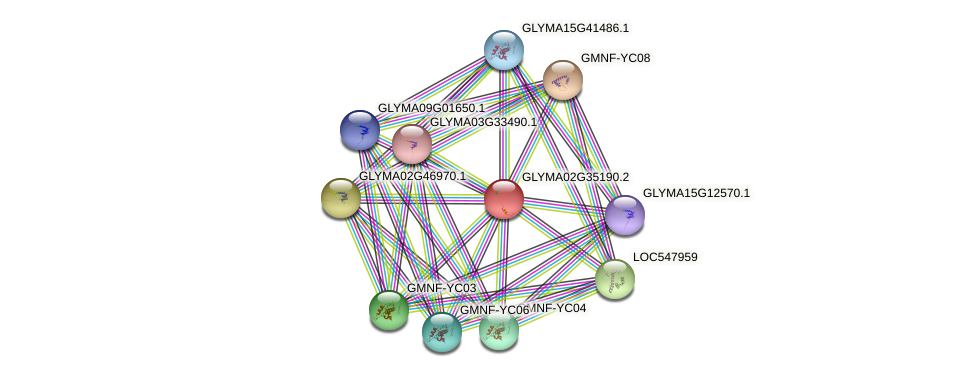 GLYMA02G35190.2 protein (Glycine max) - STRING interaction network