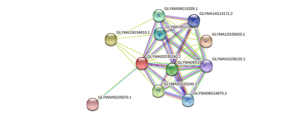 GLYMA02G35240.2 protein (Glycine max) - STRING interaction network