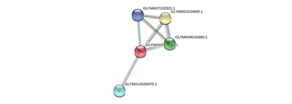 GLYMA02G40380.1 protein (Glycine max) - STRING interaction network