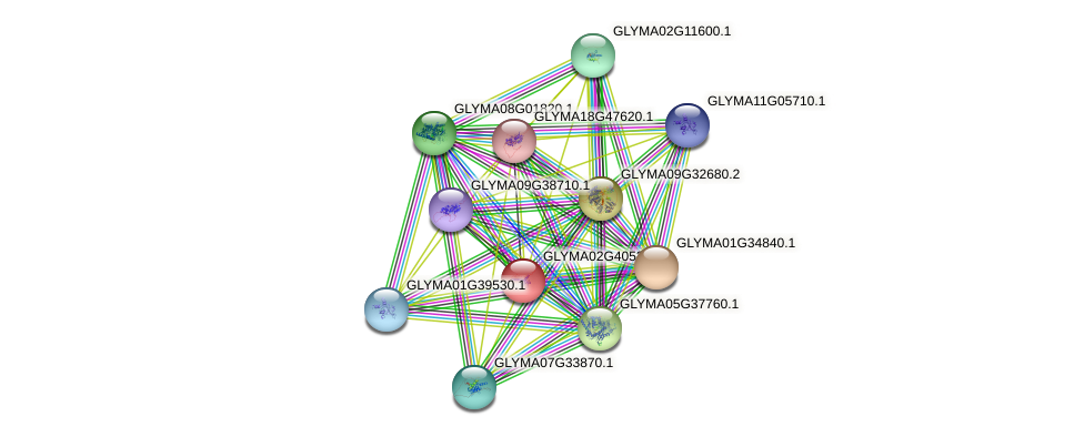 GLYMA02G40530.2 protein (Glycine max) - STRING interaction network