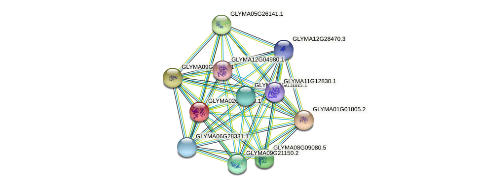 GLYMA02G41660.1 protein (Glycine max) - STRING interaction network