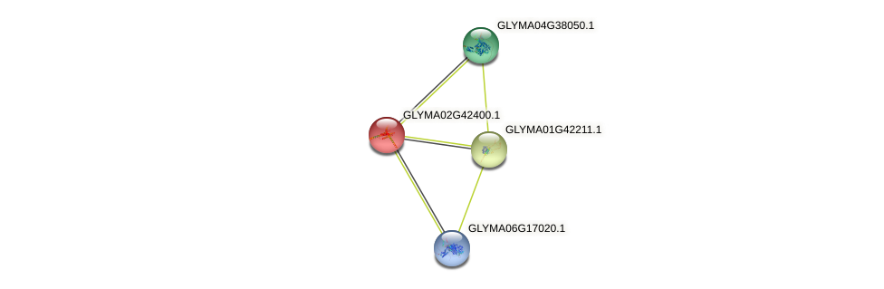 GLYMA02G42400.1 protein (Glycine max) - STRING interaction network