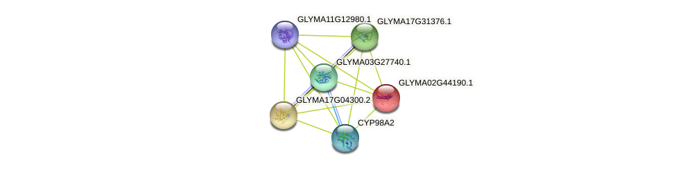 GLYMA02G44190.1 protein (Glycine max) - STRING interaction network