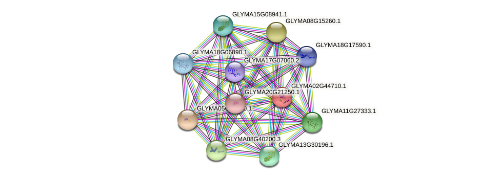 GLYMA02G44710.1 protein (Glycine max) - STRING interaction network