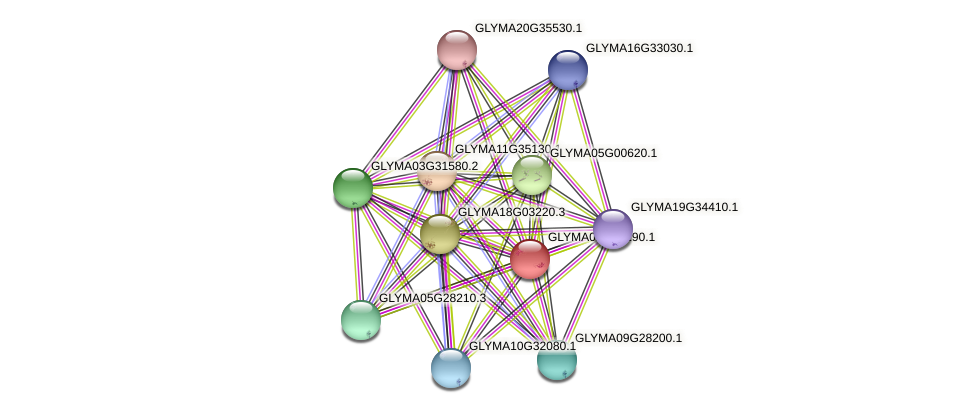 GLYMA02G45190.1 protein (Glycine max) - STRING interaction network