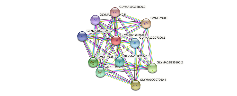 GLYMA02G46970.1 protein (Glycine max) - STRING interaction network