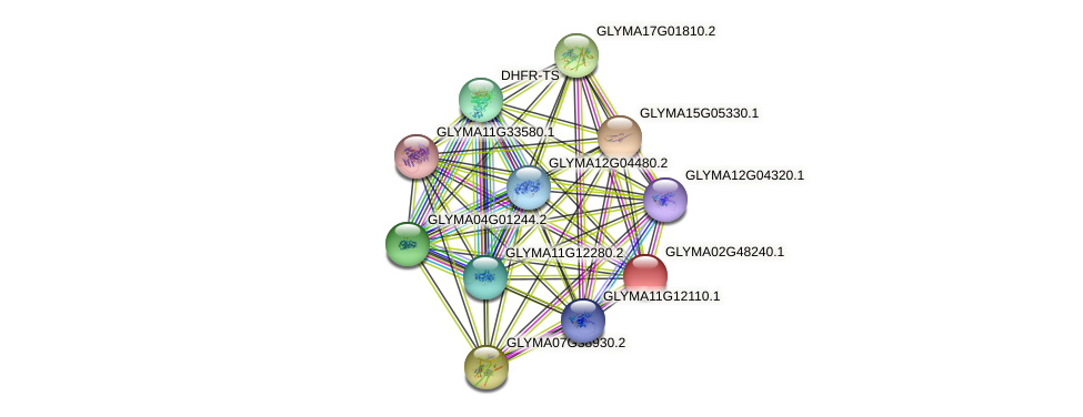 GLYMA02G48240.1 protein (Glycine max) - STRING interaction network