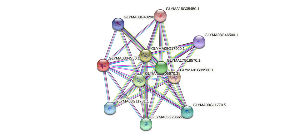 GLYMA0304S50.1 protein (Glycine max) - STRING interaction network