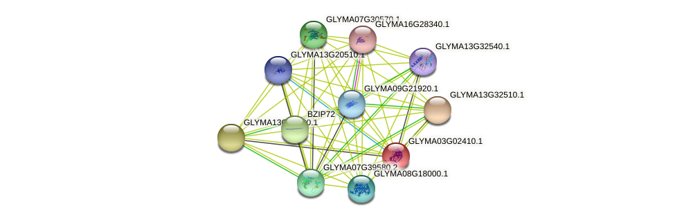 GLYMA03G02410.1 protein (Glycine max) - STRING interaction network