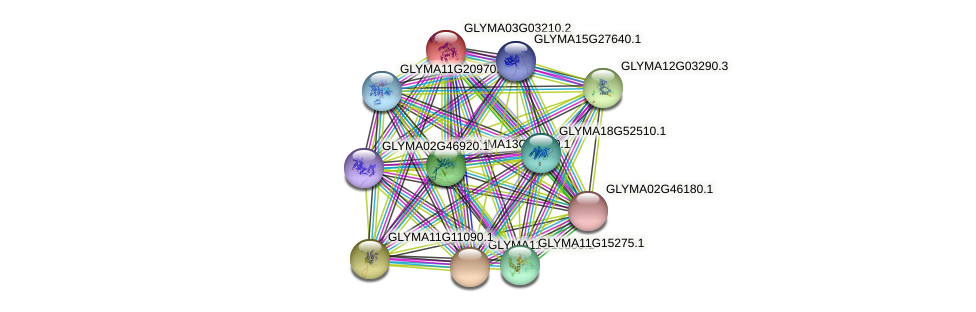 GLYMA03G03210.2 protein (Glycine max) - STRING interaction network