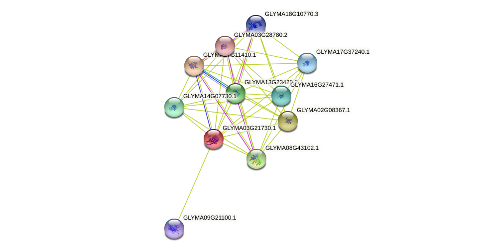 GLYMA03G21730.1 protein (Glycine max) - STRING interaction network