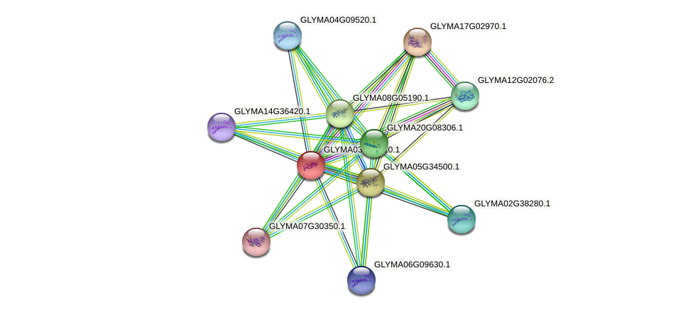 GLYMA03G23910.1 protein (Glycine max) - STRING interaction network