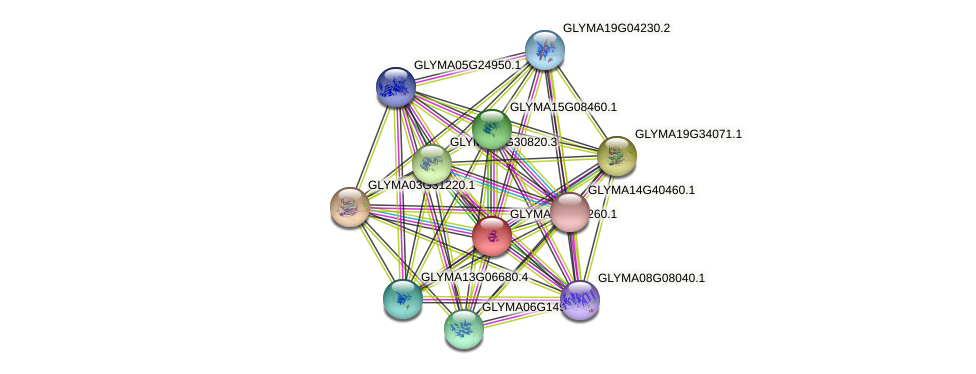 GLYMA03G24260.1 protein (Glycine max) - STRING interaction network