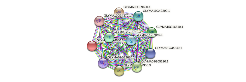GLYMA03G24680.1 protein (Glycine max) - STRING interaction network