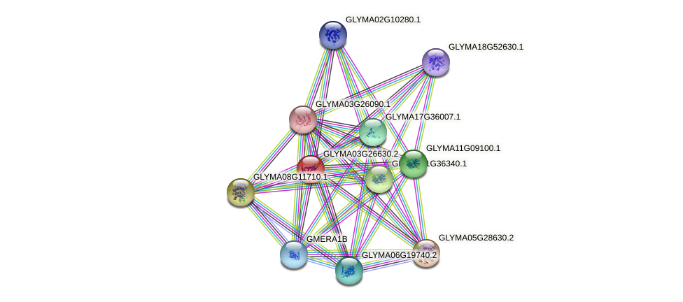 GLYMA03G26630.1 protein (Glycine max) - STRING interaction network