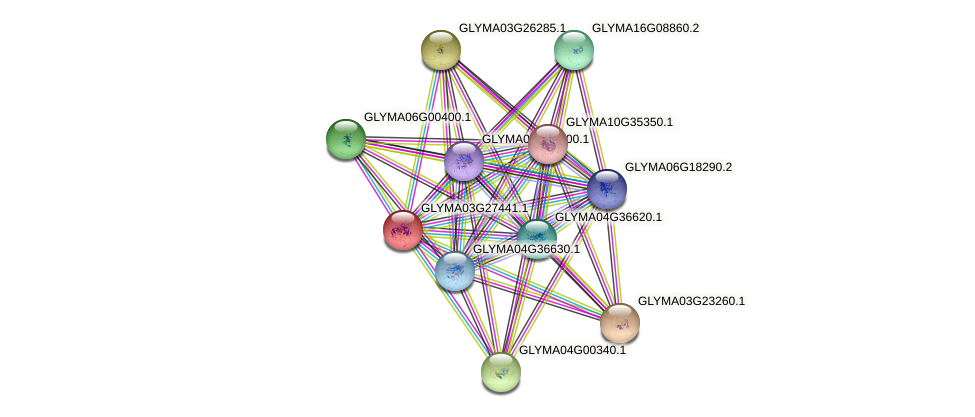 GLYMA03G27441.1 protein (Glycine max) - STRING interaction network