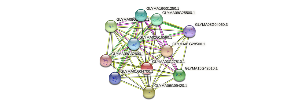 GLYMA03G27510.1 protein (Glycine max) - STRING interaction network