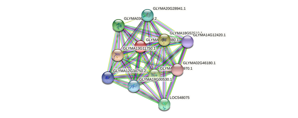 GLYMA03G28880.1 protein (Glycine max) - STRING interaction network