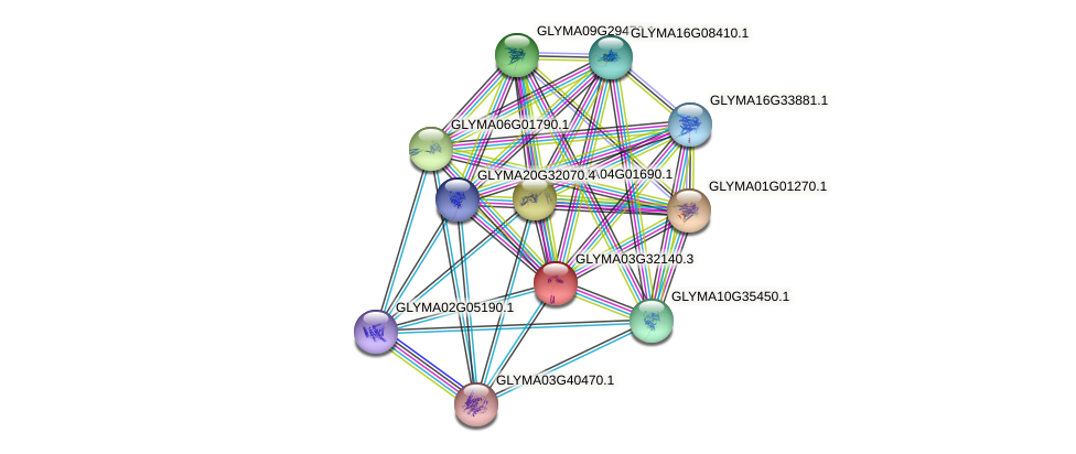 GLYMA03G32140.3 protein (Glycine max) - STRING interaction network
