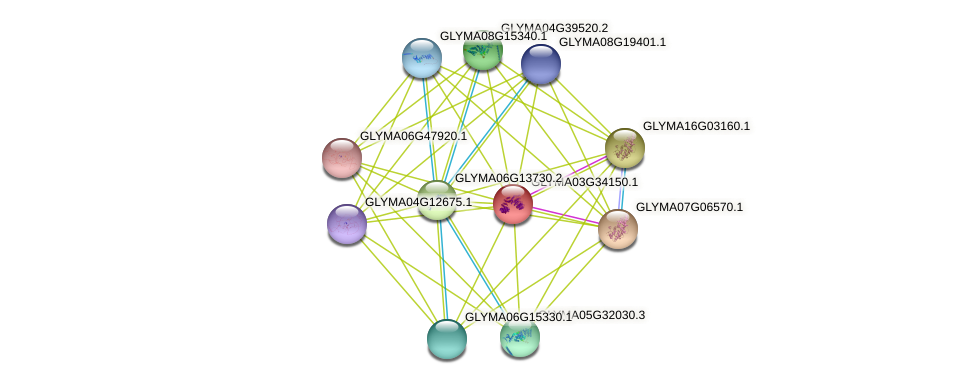 GLYMA03G34150.1 protein (Glycine max) - STRING interaction network