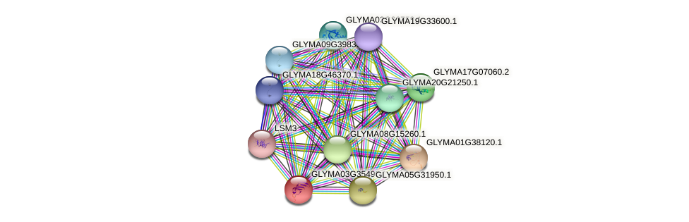 GLYMA03G35490.1 protein (Glycine max) - STRING interaction network