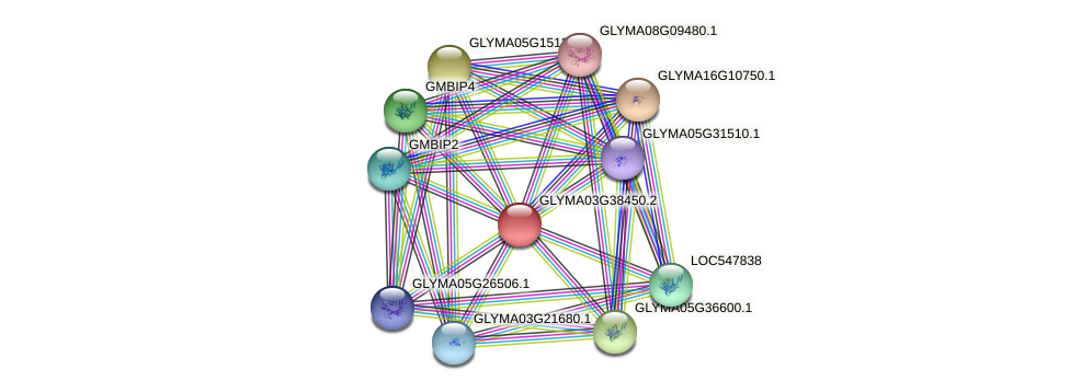 GLYMA03G38450.2 protein (Glycine max) - STRING interaction network