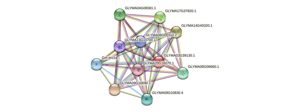 GLYMA03G39130.1 protein (Glycine max) - STRING interaction network