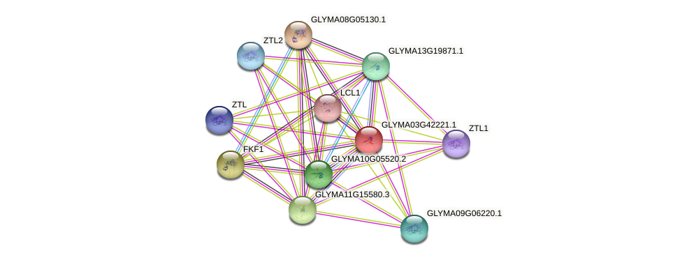 GLYMA03G42221.1 protein (Glycine max) - STRING interaction network