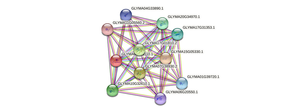 GLYMA04G01110.1 protein (Glycine max) - STRING interaction network