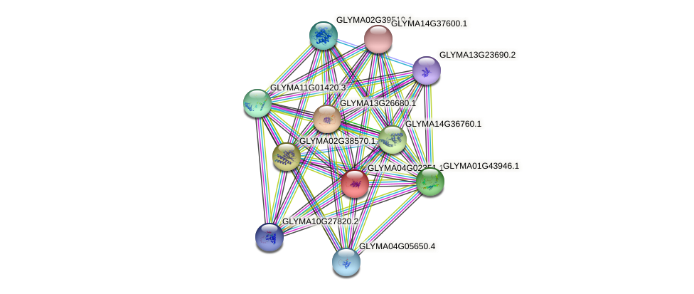 GLYMA04G02351.1 protein (Glycine max) - STRING interaction network