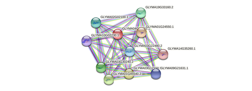 GLYMA04G03876.1 protein (Glycine max) - STRING interaction network