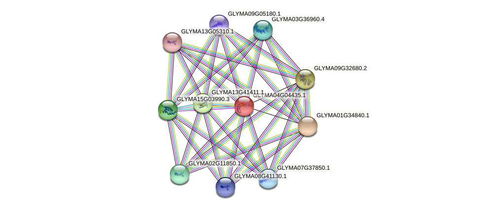 GLYMA04G04435.1 protein (Glycine max) - STRING interaction network