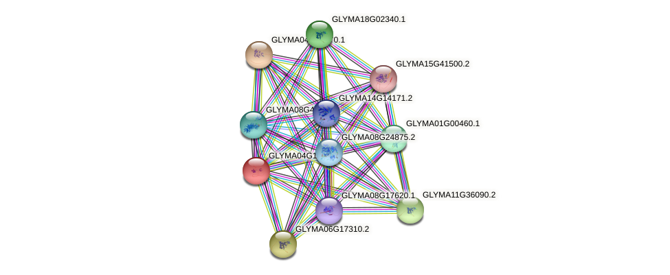 GLYMA04G10650.1 protein (Glycine max) - STRING interaction network