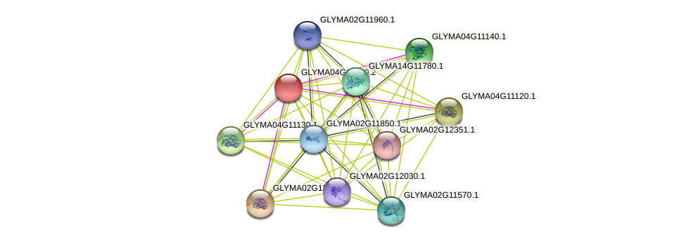 GLYMA04G11060.2 protein (Glycine max) - STRING interaction network