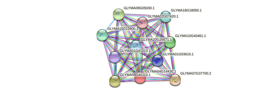 GLYMA04G14430.1 protein (Glycine max) - STRING interaction network