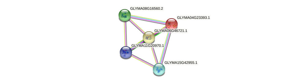 GLYMA04G23393.1 protein (Glycine max) - STRING interaction network