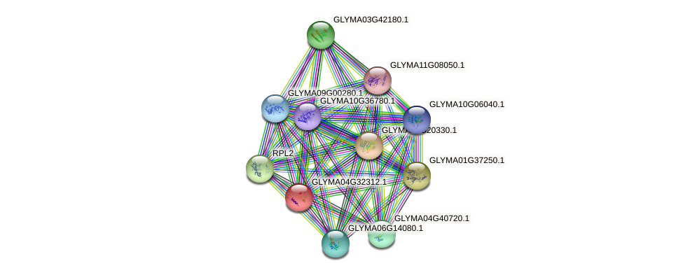 GLYMA04G32312.1 protein (Glycine max) - STRING interaction network