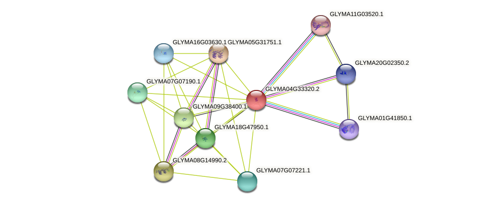 GLYMA04G33320.2 protein (Glycine max) - STRING interaction network